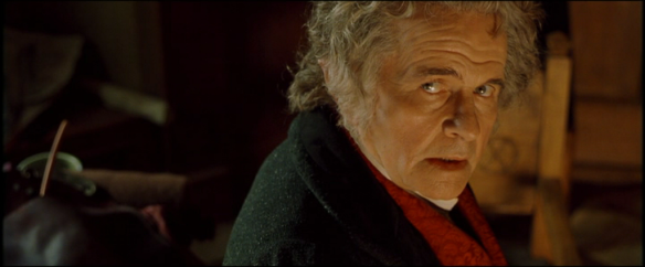 The Lord of the Rings: The Fellowship of the Ring (Peter Jackson, 2001): Ian Holm as Bilbo Baggins