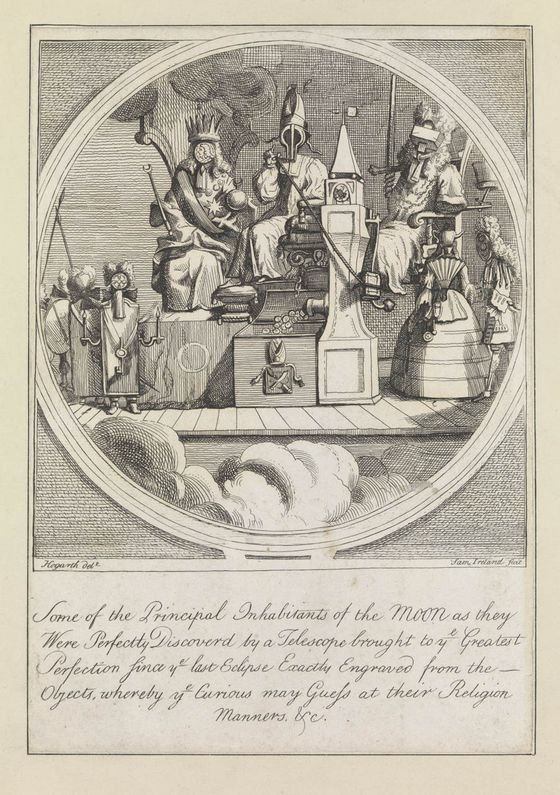 William Hogarth: Some of the Principal Inhabitants of the Moon