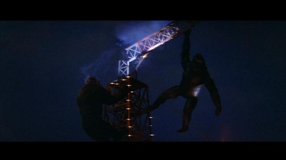 King Kong battles his robot self.