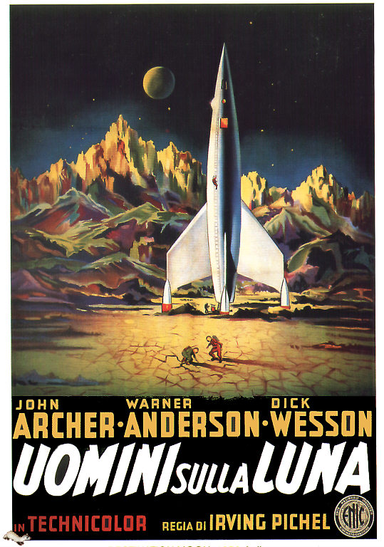 Destination Moon Italian Poster