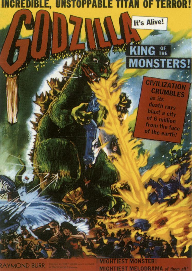 Godzilla King Of The Monsters Poster 1956 – Godzil...
