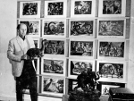 Ray Harryhausen with artwork