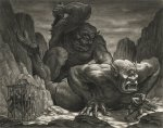 TwoCyclopsFight ray harryhausen