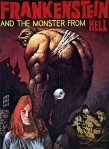 Frankenstein and monster from hell poster