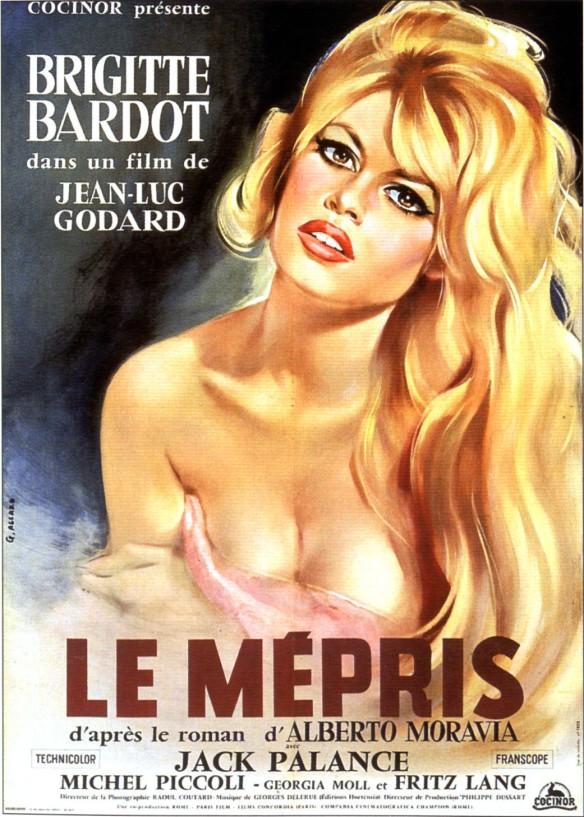 Le Mepris Poster Brigitte Bardot Jean-Luc Godard