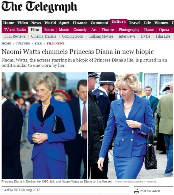 Princess Diana & Naomi Watts