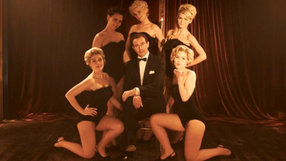 Steve Coogan and dancing girls in The Look of Love