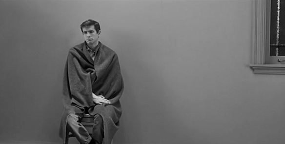 Anthony Perkins as Norman Bates in Psycho