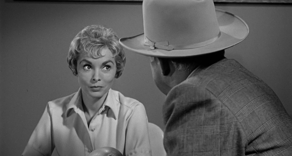 Janet Leigh as Marion Crane in Alfred Hitchcock's Psycho (1960)